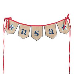 Glory Haus 'USA' Banner Wall Decor