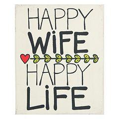 Glory Haus 'Happy Wife Happy Life' Wall Decor