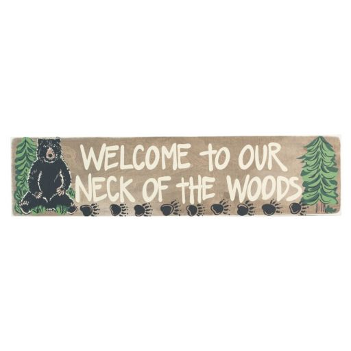 "Glory Haus ""Welcome To Our Neck of The Woods"" Canvas Wall Decor"