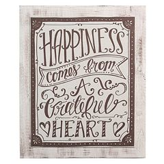 Glory Haus 'Happiness Comes From A Grateful Heart' Wall Decor