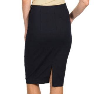Harve Benard Solid Pencil Skirt - Women's