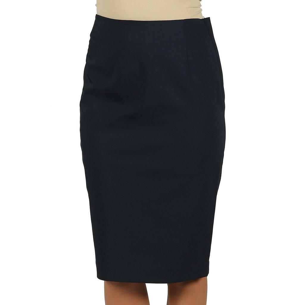 Harve Benard Solid Pencil Skirt - Women's