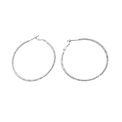 Croft & Barrow® Diamond-Cut Hoop Earrings