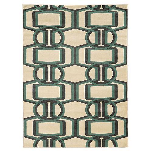 Linon Roma Bridle Geometric Rug