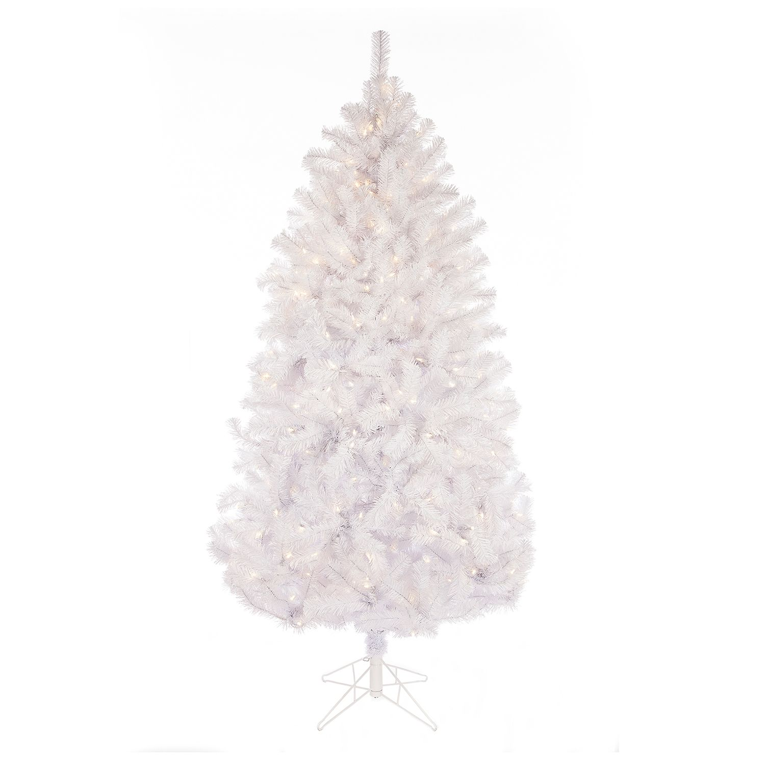 Sterling 7 Ft. Light Up Montana Pine Artificial White Christmas Tree
