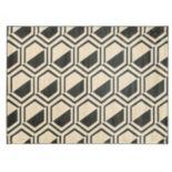 Linon Roma Comb Geometric Rug