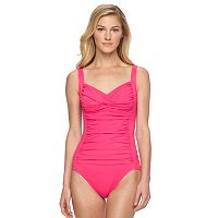 Women's Croft & Barrow® Tummy Slimmer Twist One-Piece Swimsuit