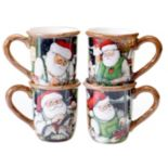 Certified International Susan Winget Santa's Workshop 4-pc. Mug Set