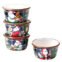 Certified International Susan Winget Santa's Workshop 4-pc. Ice Cream Bowl Set