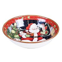 Certified International Susan Winget Santa's Workshop Pasta Bowl