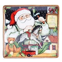 Certified International Susan Winget Santa's Workshop 12.5-in. Square Platter