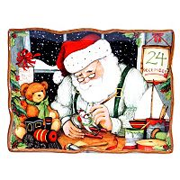 Certified International Susan Winget Santa's Workshop 16-in. Rectangular Platter