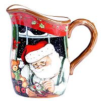 Certified International Susan Winget Santa's Workshop 2.75-qt. Pitcher