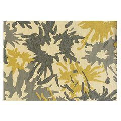 Linon Le Soleil Abstract Splash Indoor Outdoor Rug