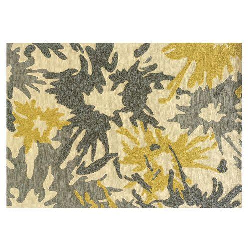 Linon Le Soleil Abstract Splash Indoor Outdoor Rug