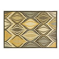 Linon Le Soleil Abstract Indoor Outdoor Rug