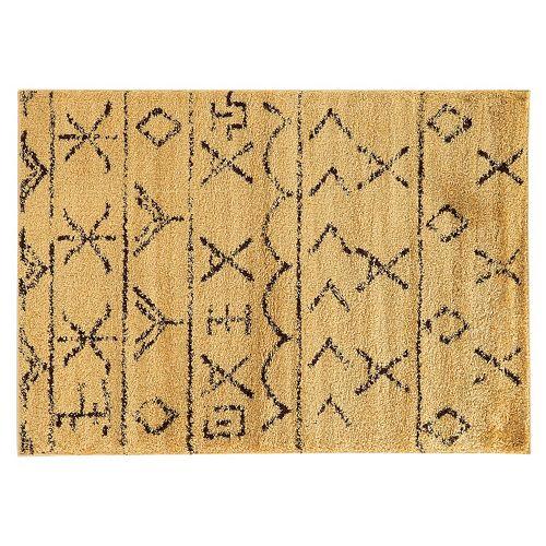 Shop Linon Moroccan Mekenes Camel Brown Rug: Linon Moroccan Atlas Shag Rug