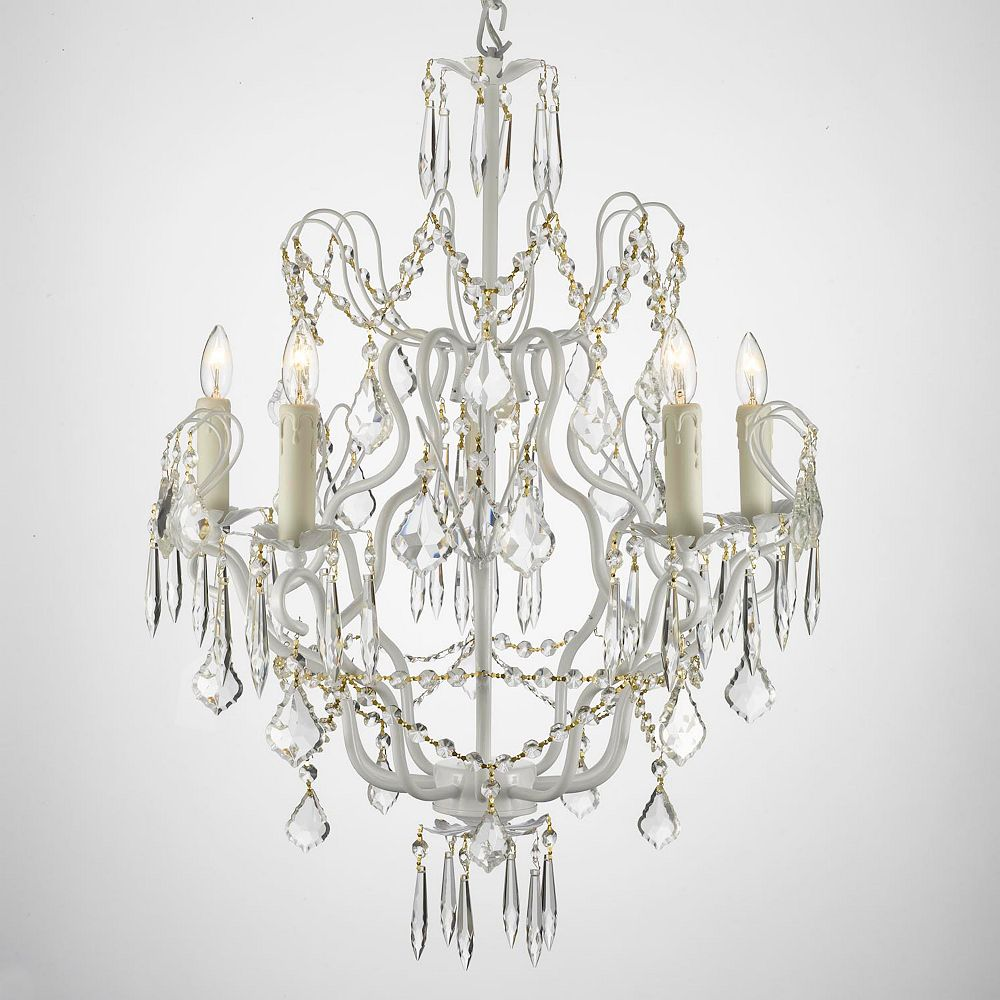 Gallery Wrought Iron 5 Light Swag Chandelier
