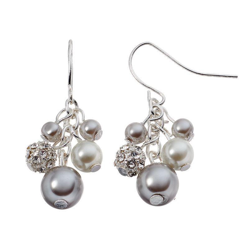 Chaps Cluster Drop Earrings