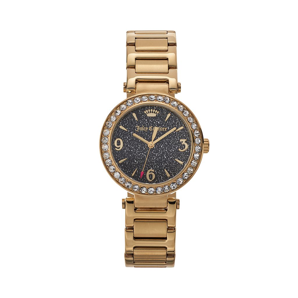 Juicy Couture Women's Victoria Crystal Stainless Steel Watch