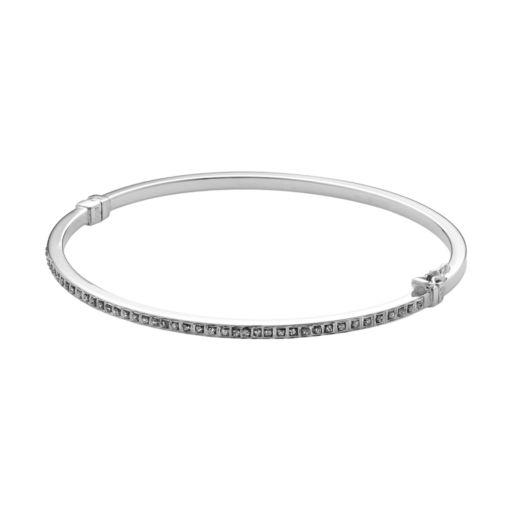 Diamond Mystique Sterling Silver Bangle Bracelet