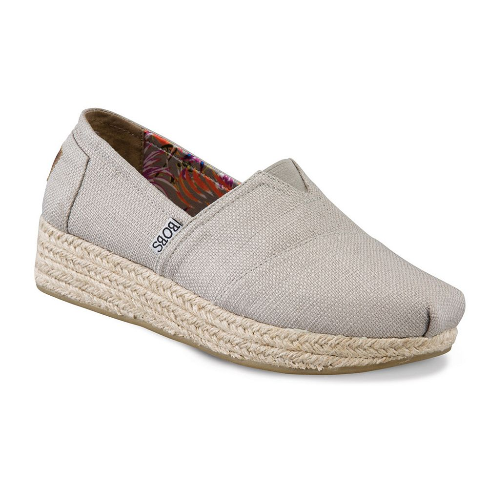 79218596d63d Skechers BOBS High Jinx Women s Espadrille Wedge Slip-On Shoes