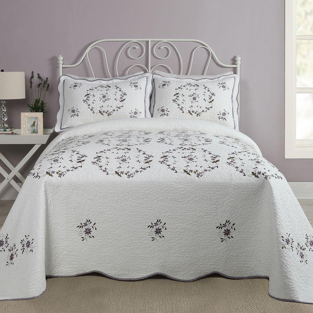 Modern Heirloom Gwen Quilted Bedspread or Sham