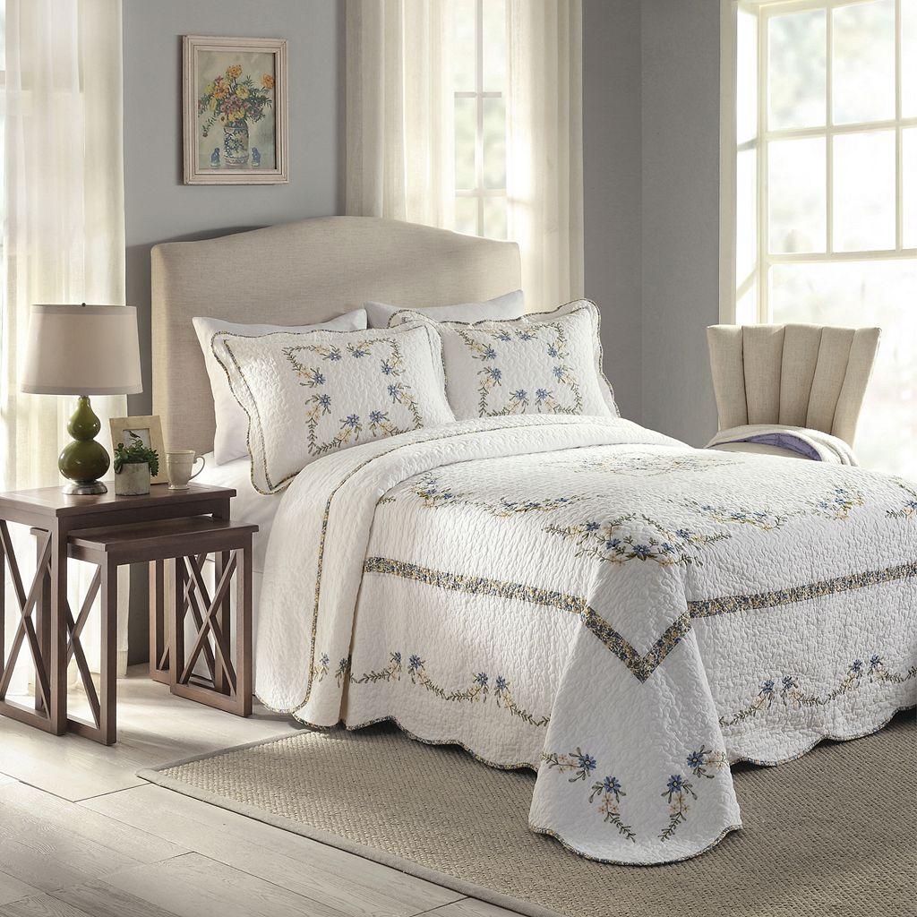 Peking Heather Quilted Bedspread