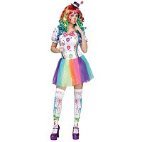 Crazy Color Clown Costume - Adult