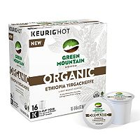 Keurig® K-Cup® Pod Organic Green Mountain Coffee Organic Ethiopia Yirgacheffe Light Roast Coffee - 16-pk.