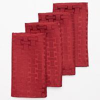 Cuisinart Basketweave 4 pc Stain-Resistant Microfiber Napkin Set