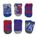 Boys Star Wars 6-Pack Darth Vader Ankle Socks