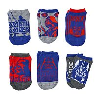 Boys Star Wars 6-Pack Darth Vader Ankle Socks