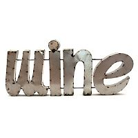 Rustic Arrow Metal ''Wine'' Wall Decor