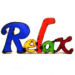 Rustic Arrow ''Relax'' Multicolor Wall Decor