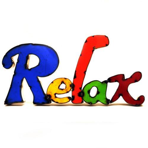 "Rustic Arrow ""Relax"" Multicolor Wall Decor"
