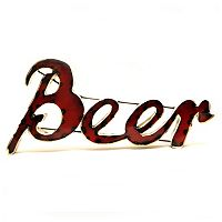 Rustic Arrow Metal ''Beer'' Wall Décor