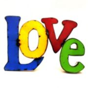 Rustic Arrow ''Love'' Multicolor Wall Decor