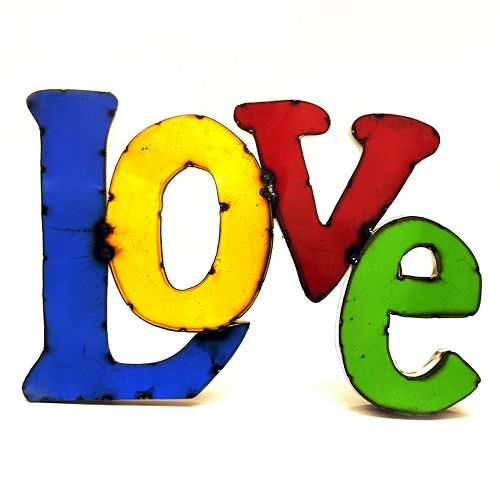 Rustic Arrow ''Love'' Multicolor Wall Decor