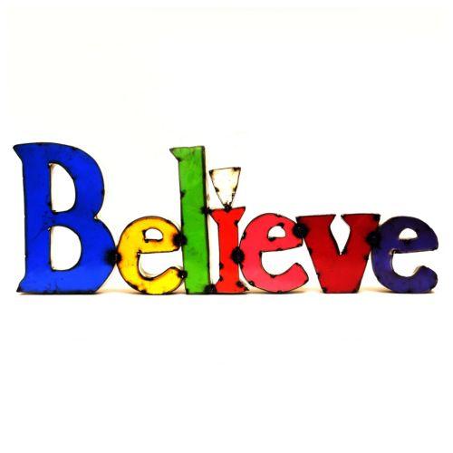 Rustic Arrow ''Believe'' Wall Decor