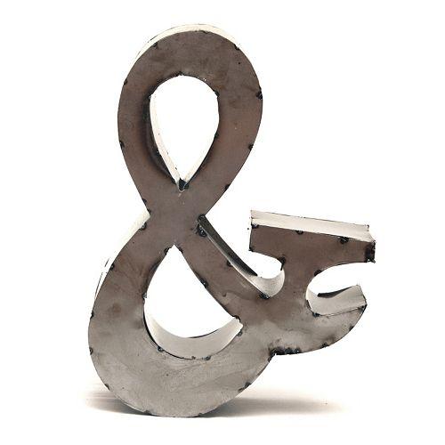 Rustic Arrow 14-Inch Ampersand Wall Decor