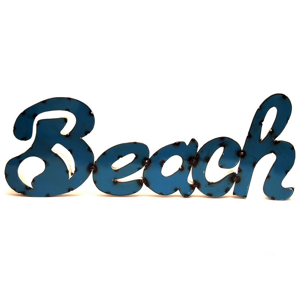 Rustic Arrow ''Beach'' Wall Decor