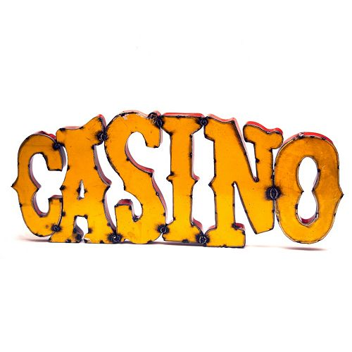 Rustic Arrow ''Casino'' Wall Decor