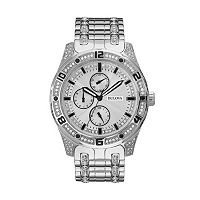 Bulova Men's Crystal Stainless Steel Watch - 96C106