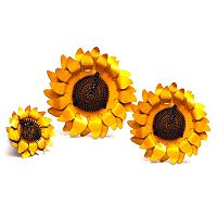 Rustic Arrow 3-Piece Sunflower Wall Decor Set