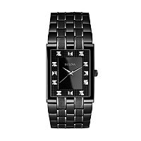 Bulova Men's Diamond Stainless Steel Watch - 98D111
