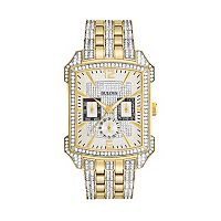 Bulova Men's Crystal Gold Tone Stainless Steel Watch - 98C109
