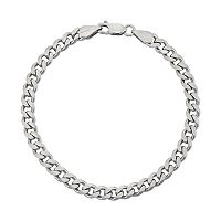 Men's Sterling Silver Curb Chain Bracelet