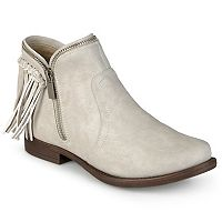 Journee Collection Women's Fringe Ankle Boots