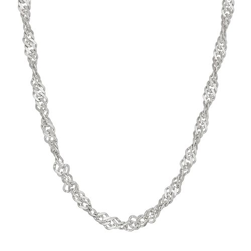 Sterling Silver Disco Chain Necklace - 16 in.